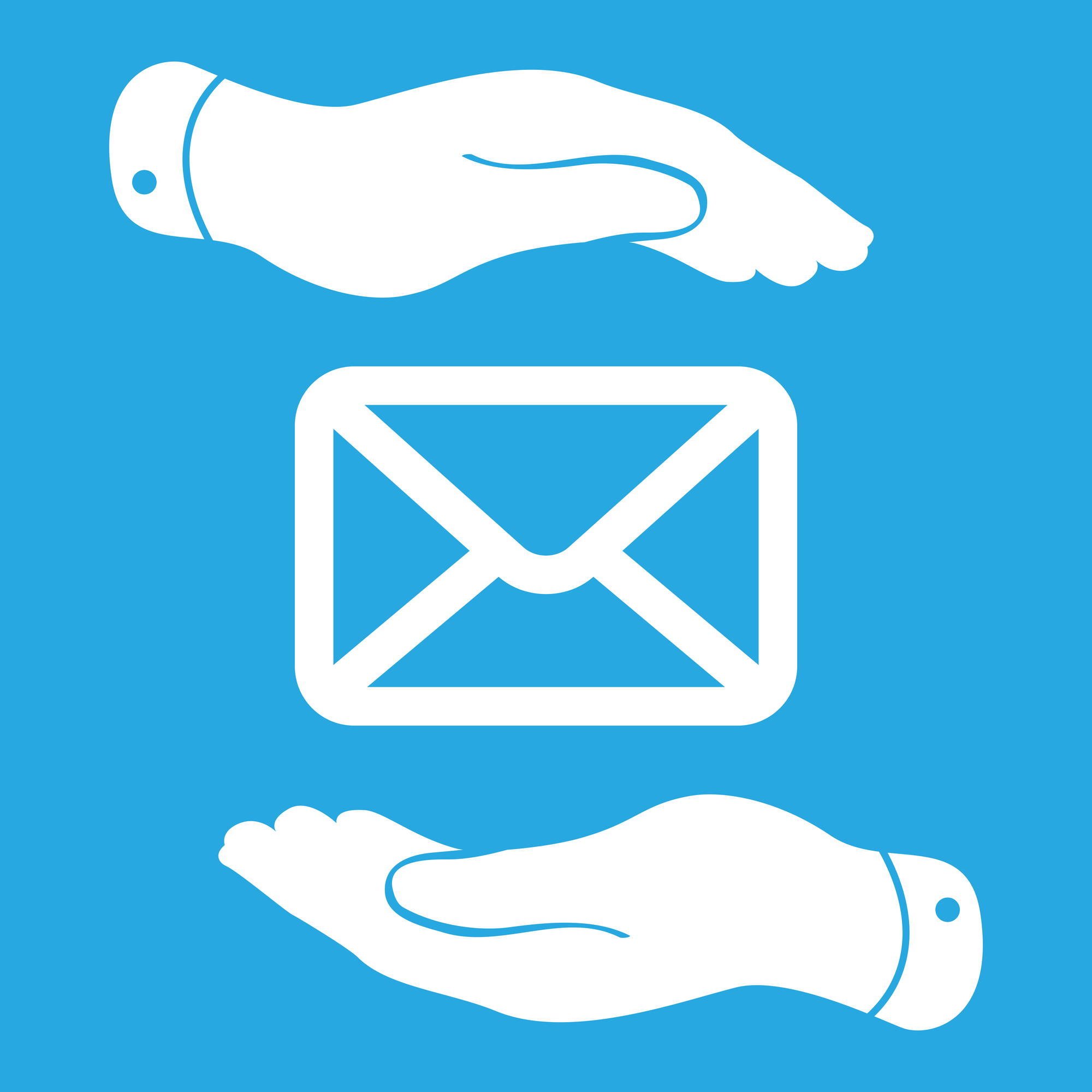 Two Hands Take Care Of Message Icon Boomers Social Media Tutor